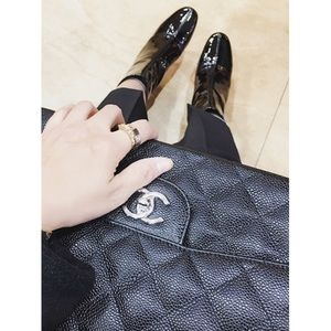 Zara patent leather boots